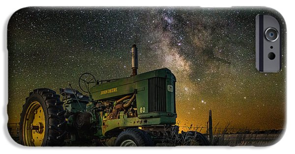 John Deere Tractor iPhone Cases - Farming the Rift 3 iPhone Case by Aaron J Groen