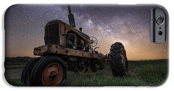 Rift iPhone Cases - Farming the Rift 4 iPhone Case by Aaron J Groen
