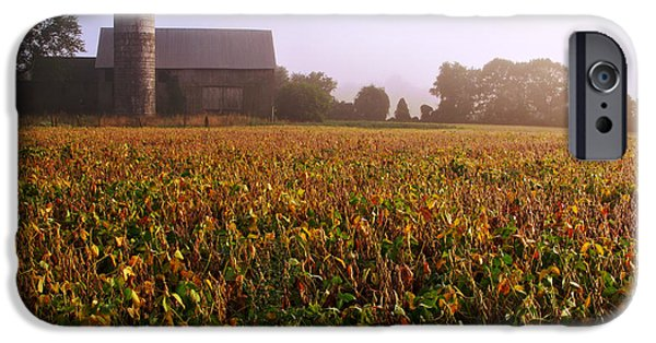 Farm iPhone Cases - Farmland iPhone Case by Olivier Le Queinec