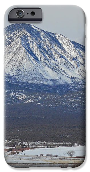 Farmland under the mountain iPhone Case by Meandering Photography