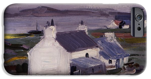 Colorist iPhone Cases - Farmsteading iPhone Case by Francis Campbell Boileau Cadell