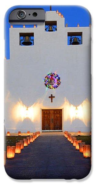 Farolitos Saint Francis De Paula Mission iPhone Case by Bob Christopher