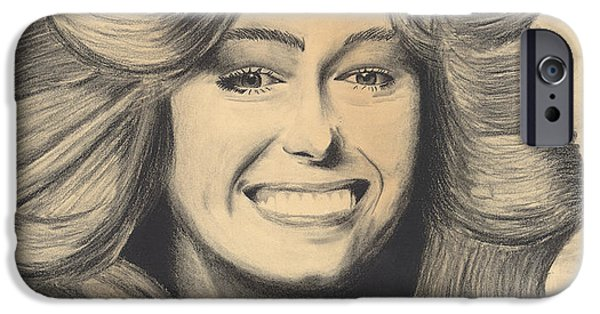 Munroe iPhone Cases - Farrah Fawcett iPhone Case by D Wallace