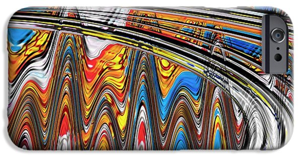 David iPhone Cases - Highway To Nowhere abstract iPhone Case by Gabriella Weninger - David