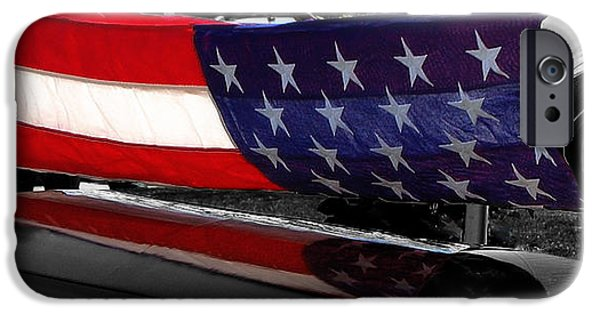 Old Glory iPhone Cases - Farwell With Honors iPhone Case by Steven Milner