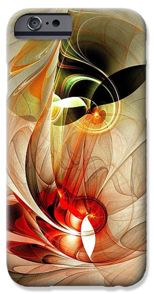 Shape iPhone Cases - Fascinated iPhone Case by Anastasiya Malakhova