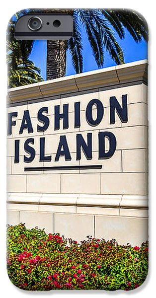Fashion Island Sign in Newport Beach California iPhone Case by Paul Velgos