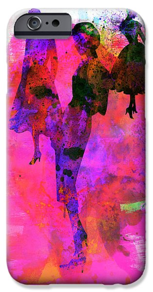 Couple iPhone Cases - Fashion Models 1 iPhone Case by Naxart Studio
