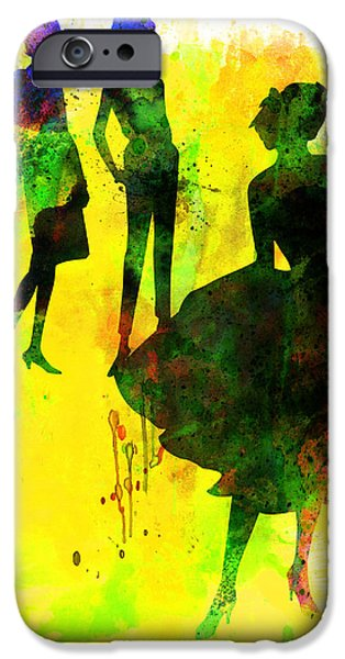 Ballet Digital Art iPhone Cases - Fashion Models 2 iPhone Case by Naxart Studio