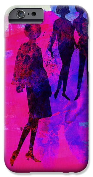 Couple iPhone Cases - Fashion Models 4 iPhone Case by Naxart Studio