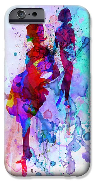 Couple iPhone Cases - Fashion Models 5 iPhone Case by Naxart Studio