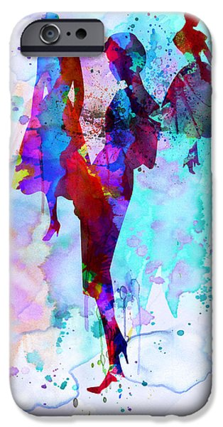 Young Digital Art iPhone Cases - Fashion Models 7 iPhone Case by Naxart Studio