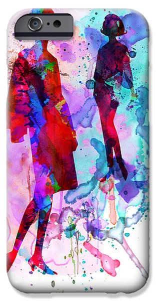 Couple iPhone Cases - Fashion Models 8 iPhone Case by Naxart Studio