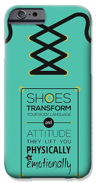 Fashion Design Art iPhone Cases - Christian Louboutin Footwear Designer Typography Quotes iPhone Case by Lab No 4 - The Quotography Department