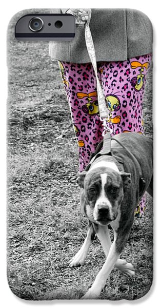 Dogs Digital Art iPhone Cases - Fashion Rural America  iPhone Case by Steven  Digman