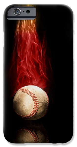 Fast Ball iPhone Cases - Fast Ball iPhone Case by Tom Mc Nemar