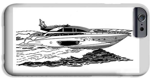Sailboats In Water iPhone Cases - Fast Riva Motoryacht iPhone Case by Jack Pumphrey