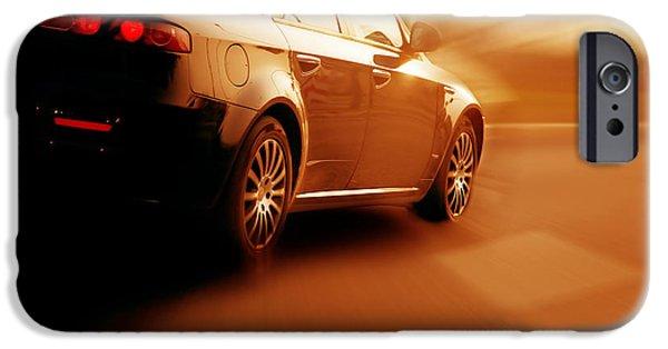 Asphalt iPhone Cases - Fast sport car iPhone Case by Michal Bednarek