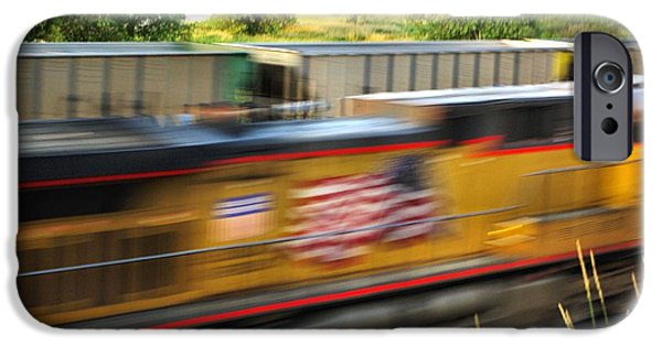 Nebraska iPhone Cases - Fast Train iPhone Case by Bill Kesler