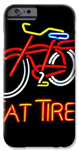 Fat Tire iPhone Cases - Fat Tire 2 iPhone Case by Kelly Awad