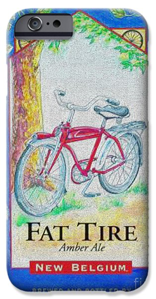 Fat Tire iPhone Cases - Fat Tire iPhone Case by Cheryl Young