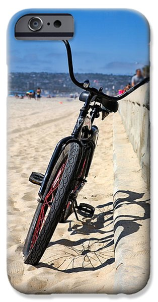 Fat Tire iPhone Cases - Fat Tire - Color iPhone Case by Peter Tellone