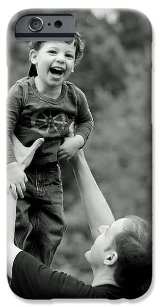 Father and Son III iPhone Case by Lisa  Phillips