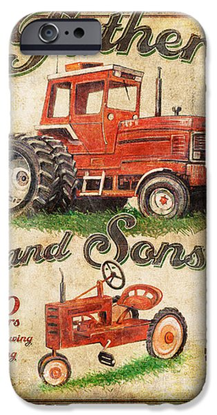 Barn Jq Licensing iPhone Cases - Father and Sons iPhone Case by Joe Low