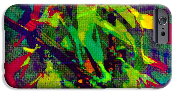 Textured Tapestries - Textiles iPhone Cases - Fauvism Duvet Texture  iPhone Case by Barbara Griffin