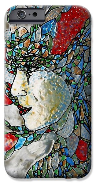Surrealism Glass iPhone Cases - Fauvist Fantasy iPhone Case by Teresa Young