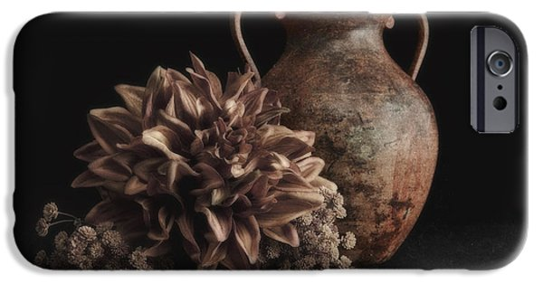 Artificial Flowers iPhone Cases - Faux Flower Still Life iPhone Case by Tom Mc Nemar