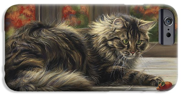 Feline iPhone Cases - Favorite Toy iPhone Case by Lucie Bilodeau