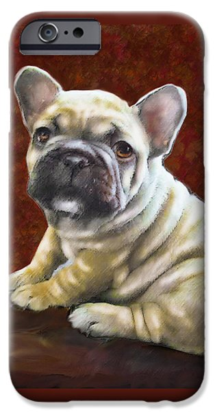Puppy Digital iPhone Cases - Fawn French Bulldog Puppy iPhone Case by Jane Schnetlage