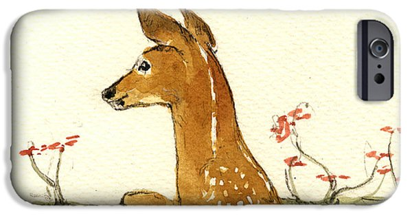 Fawn iPhone Cases - Fawn iPhone Case by Juan  Bosco