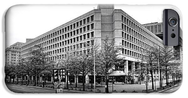 Best Sellers -  - Law Enforcement iPhone Cases - FBI Building Front View iPhone Case by Olivier Le Queinec