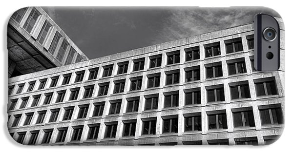 Police iPhone Cases - FBI Building Side View iPhone Case by Olivier Le Queinec