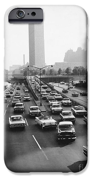 Nation iPhone Cases - Fdr Drive, Nyc, 1961 iPhone Case by Dick Hanley