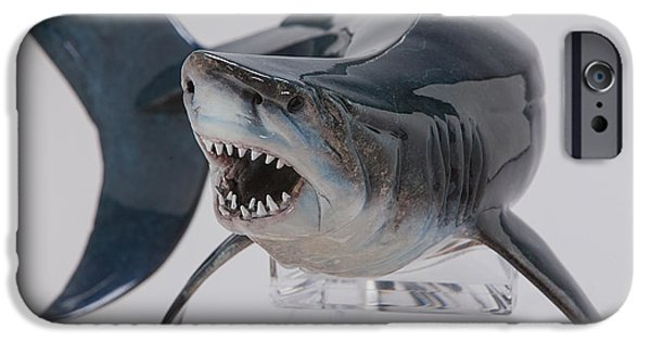 Shark Sculptures iPhone Cases - Fear iPhone Case by Victor Douieb