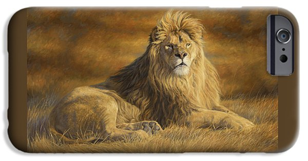 Lion iPhone Cases - Fearless iPhone Case by Lucie Bilodeau