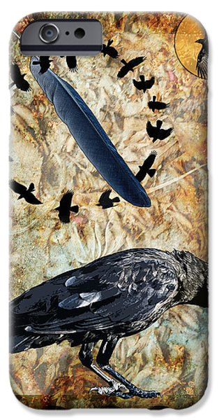 Judy Wood Digital Art iPhone Cases - Feather of Remembering iPhone Case by Judy Wood