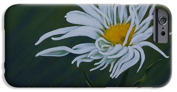 One iPhone Cases - Feathered Daisy iPhone Case by Teresa  Pascos
