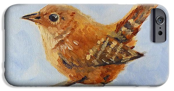 Business Paintings iPhone Cases - Feathered iPhone Case by Nancy Merkle
