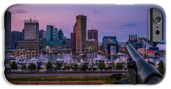 Susan Candelario Photographs iPhone Cases - Federal Hill In Baltimore Maryland iPhone Case by Susan Candelario