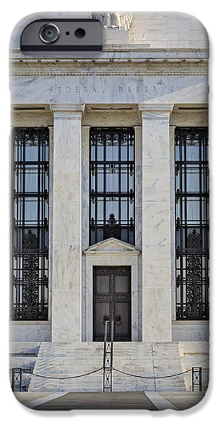 Federal Reserve iPhone Case by Susan Candelario