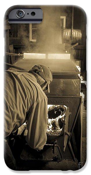 Sugaring Season iPhone Cases - Feeding the Beast iPhone Case by Edward Fielding