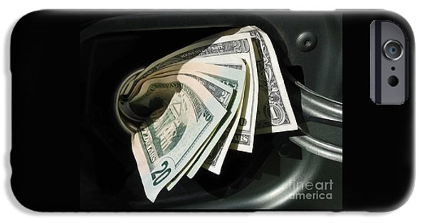 Finance iPhone Cases - Feeding the Gas Tank iPhone Case by Ann Horn