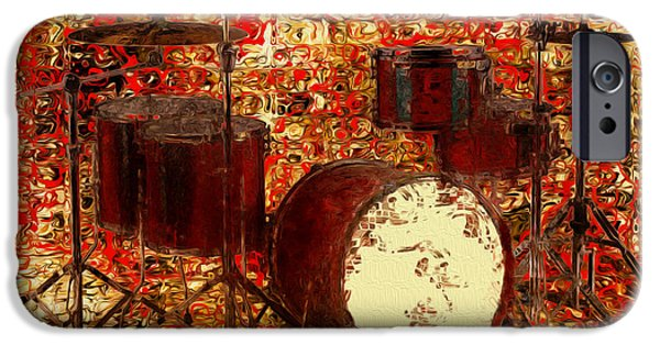 Piano iPhone Cases - Feel The Drums iPhone Case by Jack Zulli