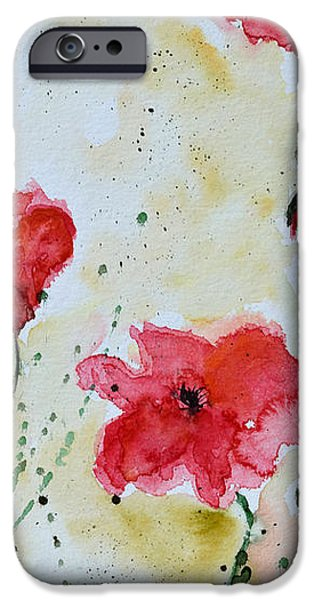 Feel the Summer 1 - Poppies iPhone Case by Ismeta Gruenwald