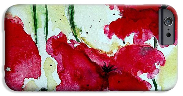 Ismeta iPhone Cases - Feel the Summer 2 - Poppies iPhone Case by Ismeta Gruenwald