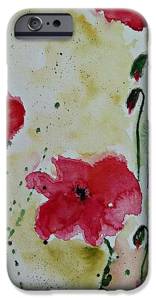 Feel the Summer - Poppies iPhone Case by Ismeta Gruenwald